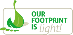 Our footprint is light!