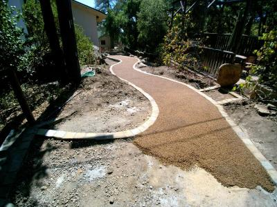 Draining paving during processing with POROUS PAVE