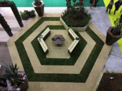 "Booth paving at the fair ""Tutto giardino 2017"" Outdoor solution"